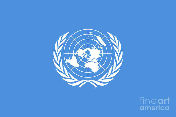 Olive Branch Digital Art - The United Nations Flag  Authentic Version by Bruce Stanfield