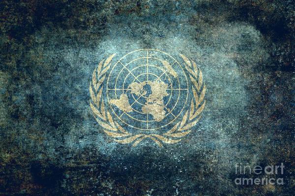 Olive Branch Digital Art - The United Nations Flag  Vintage Version by Bruce Stanfield