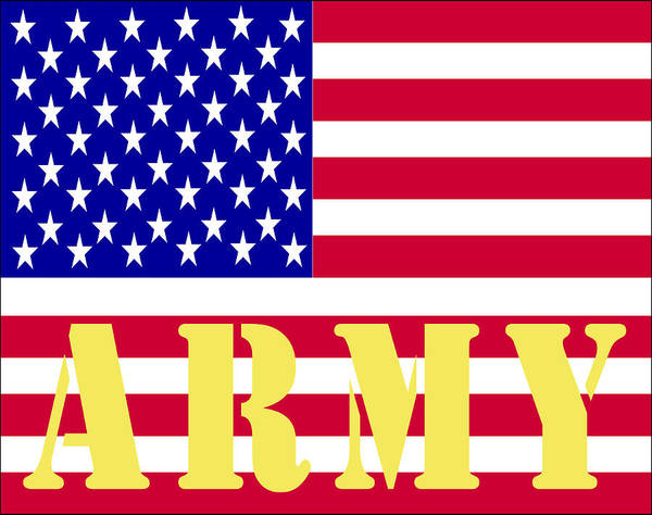 Digital Art - The United States Army by Barbara Snyder