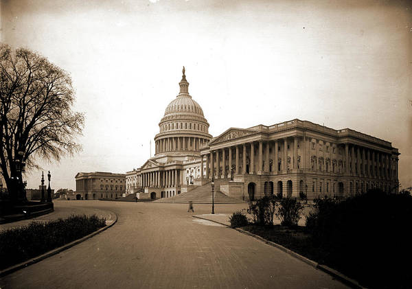 Capitol Drawing - The United States Capitol From Northeast by Litz Collection