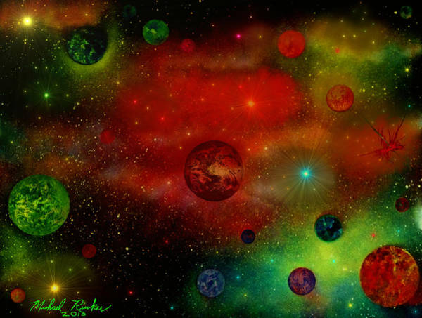 Painting - The Universe by Michael Rucker