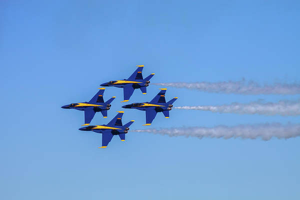 Coordination Wall Art - Photograph - The Unted States Navys Blue Angles Team by Diane Macdonald