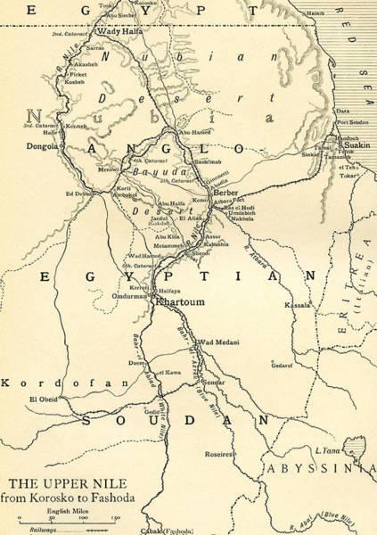 Egypt Drawing - The Upper Nile by English School