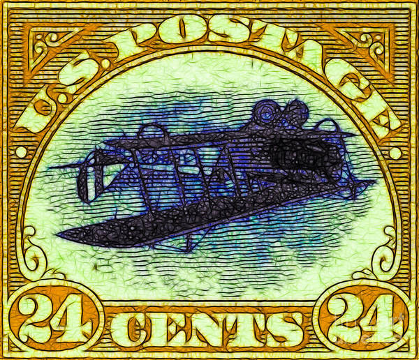 Stamp Collecting Photograph - The Upside Down Biplane Stamp - 20130119 - V3 by Wingsdomain Art and Photography