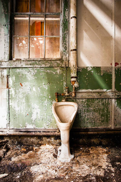 Toilet Photograph - The Urinal by Gary Heller