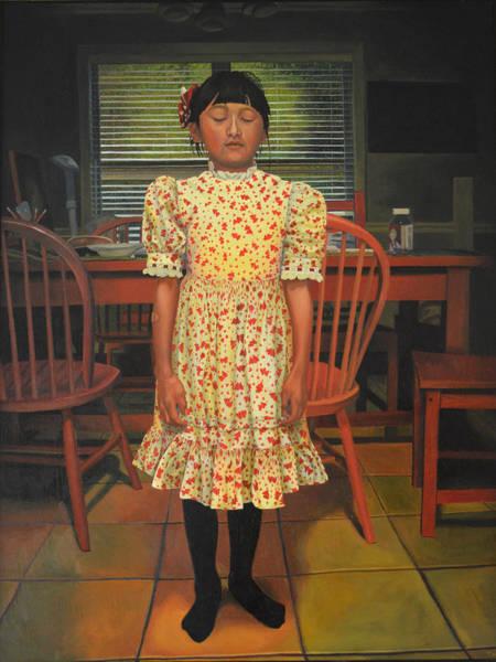 The Valentine Dress Art Print