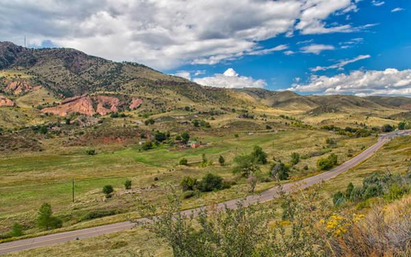 Photograph - The Valley Below Dakota Ridge by John M Bailey