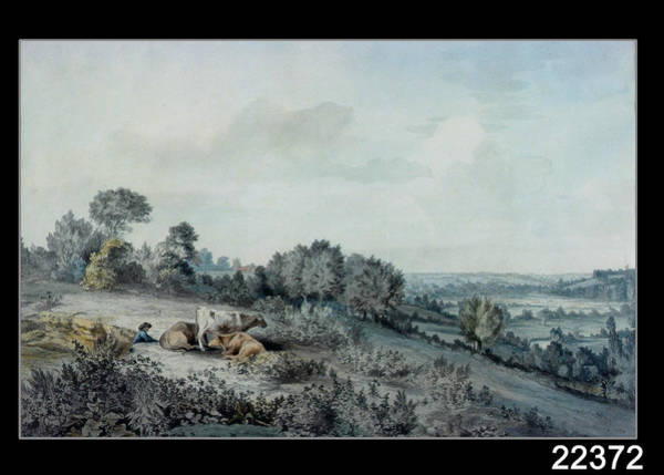 Shepherds Photograph - The Valley Of The Stour, Looking Towards East Bergholt, 1880 Pencil, Pen And Ink And Watercolour by John Constable
