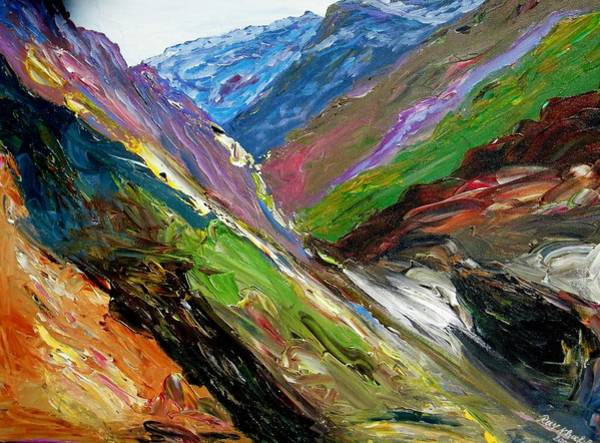 Painting - The Valley  by Ray Khalife