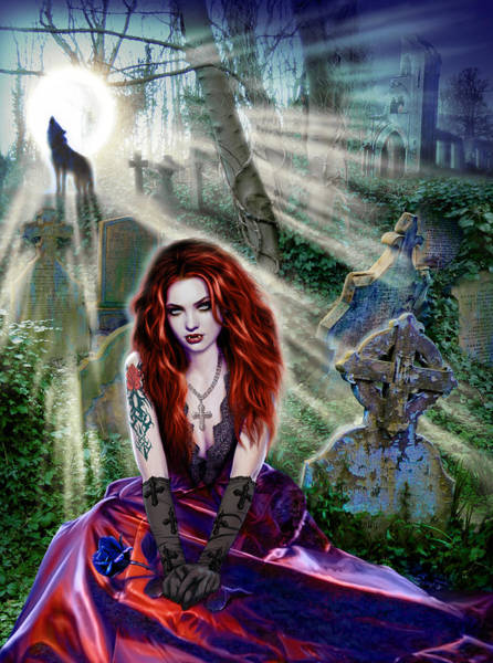 Andrew Farley Photograph - The Vampiress by MGL Meiklejohn Graphics Licensing