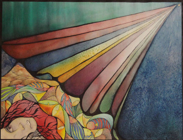 Calla Mixed Media - The Vanishing Point Of My Life by J Tanner