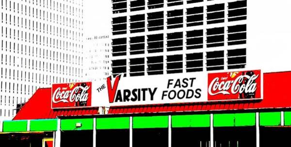 Wall Art - Mixed Media - The Varsity Atlanta Pop Art by Dan Sproul