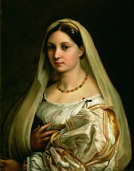 Renaissance Photograph - The Veiled Woman, Or La Donna Velata, C.1516 Oil On Canvas by Raphael