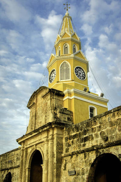 Colombian Wall Art - Photograph - The Venerable Clock Tower, Torre Del by Jerry Ginsberg