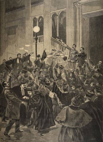 Condemned Wall Art - Drawing - The Verdict Of The Zola Affair by F.L. & Tofani, Oswaldo Meaulle