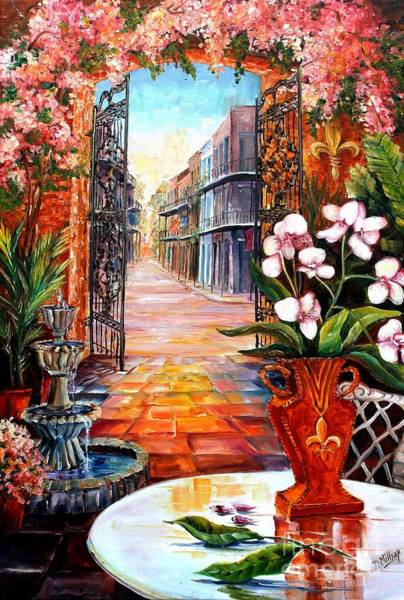 Vieux Carre Wall Art - Painting - The View From A Courtyard by Diane Millsap