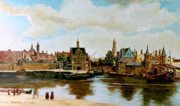 Umber Painting - The View Of Delft by Henryk Gorecki