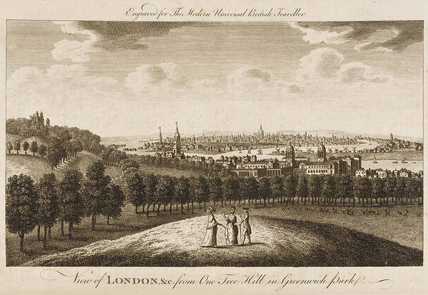 Wall Art - Drawing - The View Of London From Greenwich Park by Mary Evans Picture Library