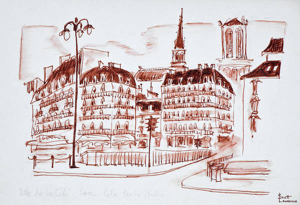 Wall Art - Photograph - The View Towards La Cite And Notre Dame by Richard Lawrence