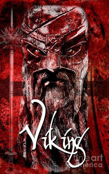 Nordic Digital Art - The Viking by Greg Sharpe