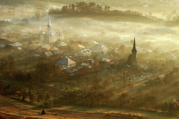 Fog Photograph - The Village Born From Fog... by