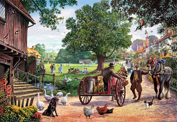 Farm Animals Photograph - The Village Green by MGL Meiklejohn Graphics Licensing
