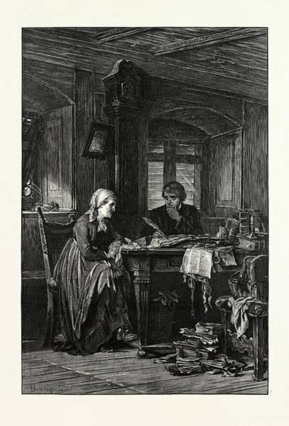 Wall Art - Drawing - The Village Lawyer by Carl Schlosser (1832-1914), Schloesser, German