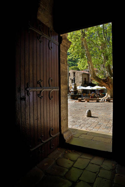Alfresco Wall Art - Photograph - The Village Square Seen by Panoramic Images