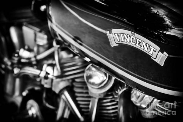 Chrome Engine Photograph - The Vincent  by Tim Gainey