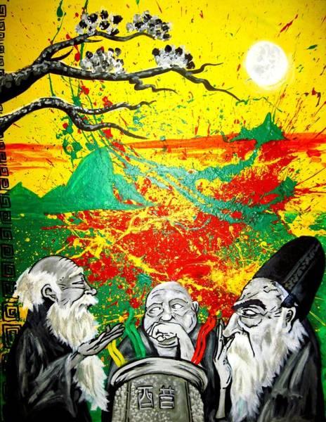 Allegory Wall Art - Painting - The Vinegar Tasters 2.0 by Art JWB