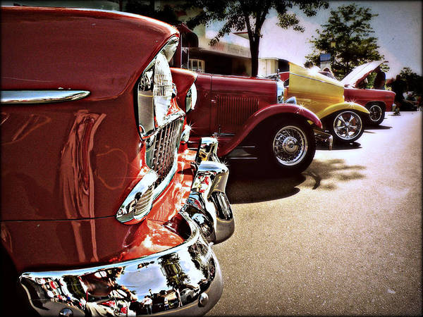 Photograph - The Vintage Car Show by Micki Findlay