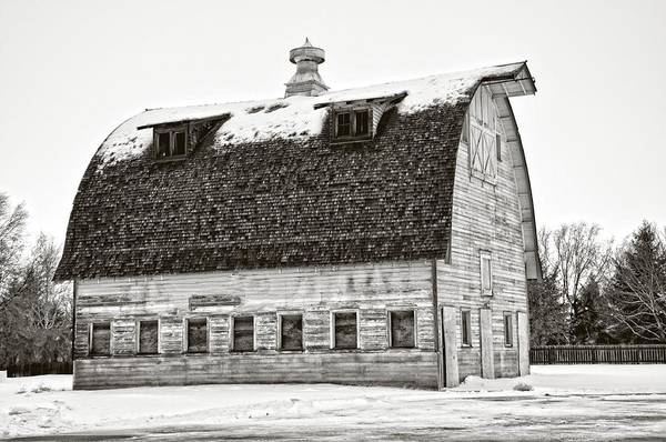 Bonneville County Photograph - The Vintage White Barn by Image Takers Photography LLC - Carol Haddon