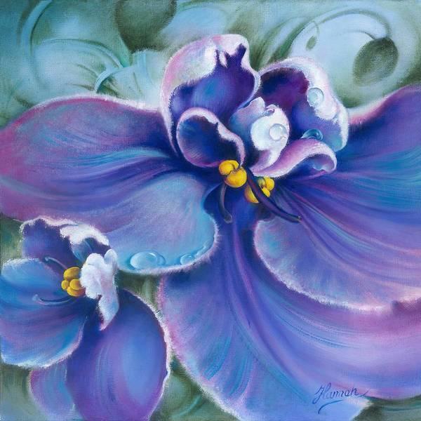 Painting - The Violet by Anna Ewa Miarczynska