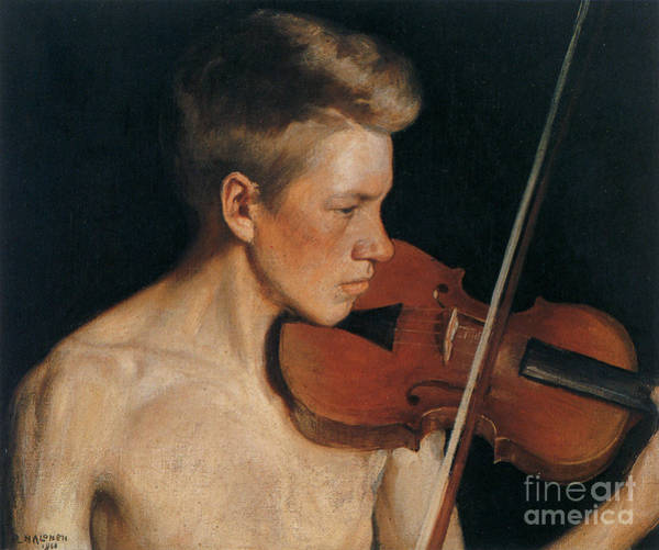 Violin Wall Art - Painting - The Violinist by Celestial Images