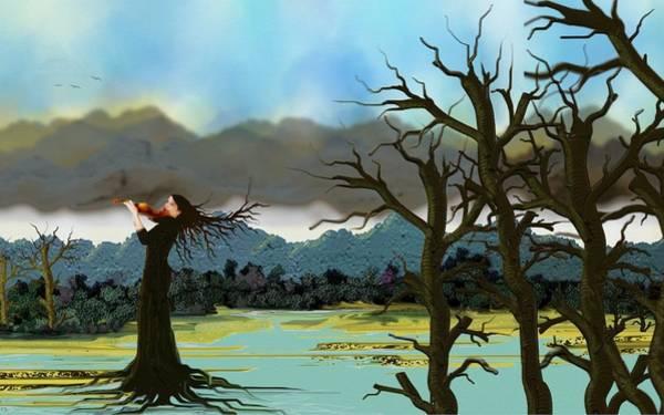 Digital Art - The Violinist by Tony Rodriguez