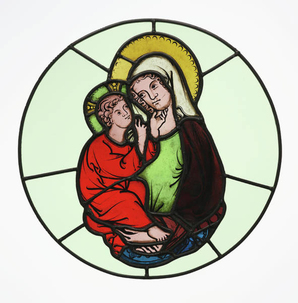 Leaded Glass Painting - The Virgin And Child Master Of Klosterneuburg by Litz Collection