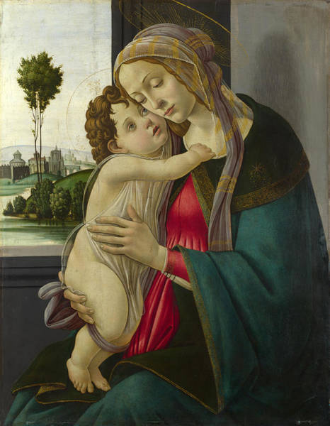 Botticelli Wall Art - Painting - The Virgin And Child by Workshop of Sandro Botticelli