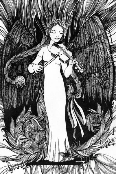 Plaits Painting - The Virgin With The Violin by Natalia Atlyanova