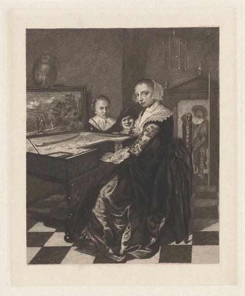 Lid Painting - The Virginals Player, Willem Steelink II by Willem Steelink (ii) And Jan Miense Molenaer