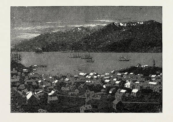 Wall Art - Drawing - The Visit Of The Pacific Squadron To Junean by Litz Collection