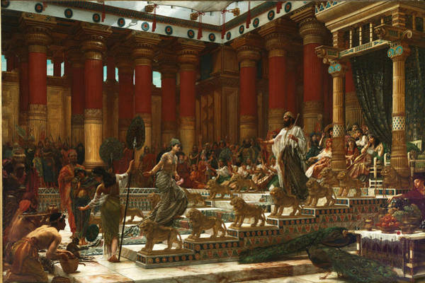 Wall Art - Painting - The Visit Of The Queen Of Sheba To King Solomon by Edward John Poynter