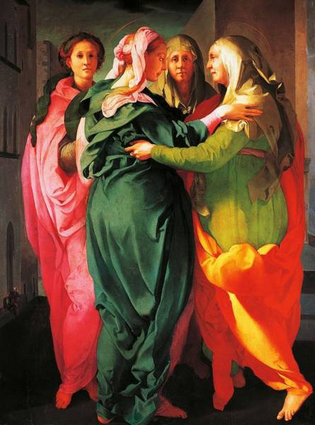 Pregnancy Painting - The Visitation by Giacomo Carucci