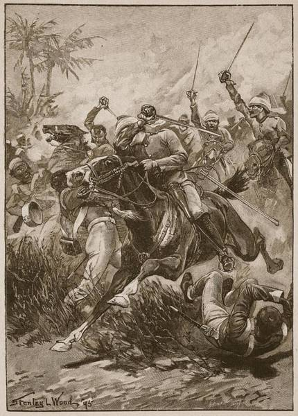 Soldier Drawing - The Volunteer Cavalry Charged by Stanley L. Wood