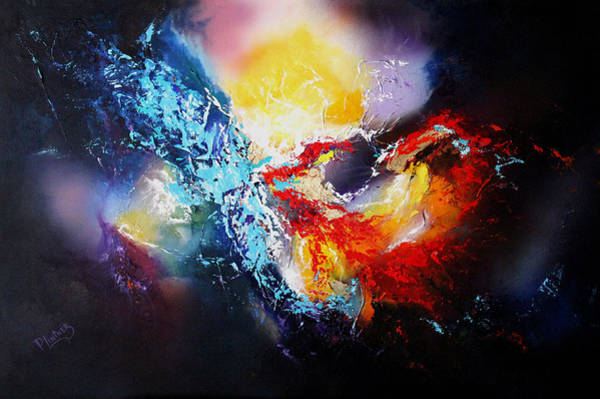 Constellation Painting - The Vortex by Patricia Lintner