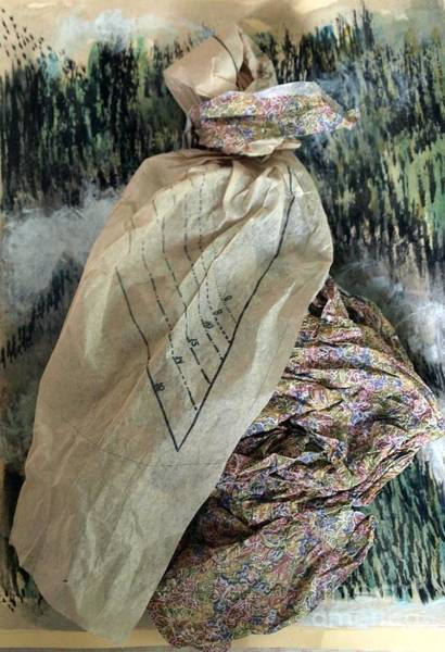 Paper Dress Mixed Media - The Walk Home by Nancy Kane Chapman