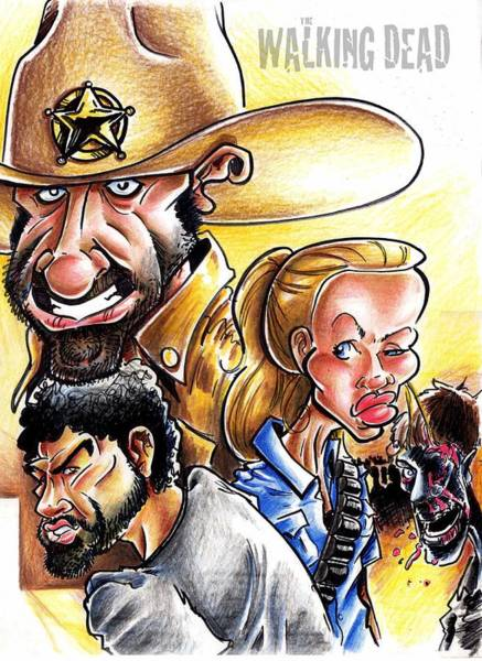 Wall Art - Drawing - The Walking Dead by Big Mike Roate
