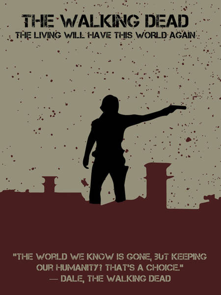 Digital Art - The Walking Dead Minimalist Movie Poster by Celestial Images