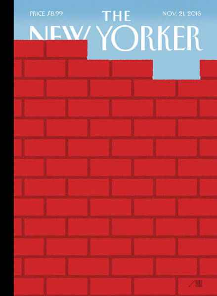 Donald Trump Painting - The Wall by Bob Staake