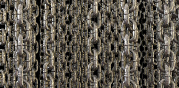 Chain Digital Art - The Wall Of Hanging Chains by Allan Swart