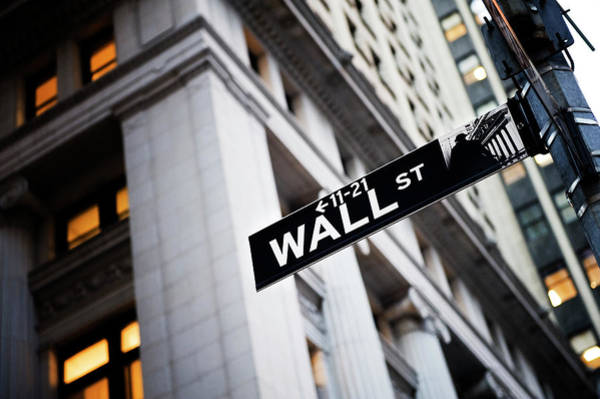 Wall Art - Photograph - The Wall Street Street Sign by Xpacifica